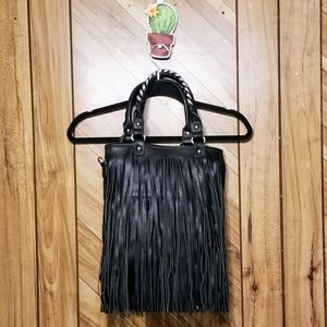 Handbags - Fringe Tassel Crossbody Handle Handbag Purse